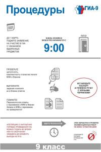 Процедуры ГИА-9